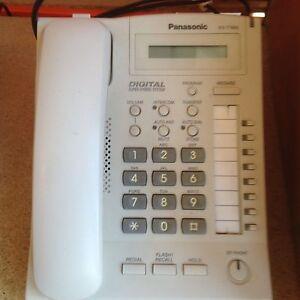 panasonic kx t7665 telephone handset white 7665 8 key digital rh ebay co uk kx-t7665 user manual User Guide Icon
