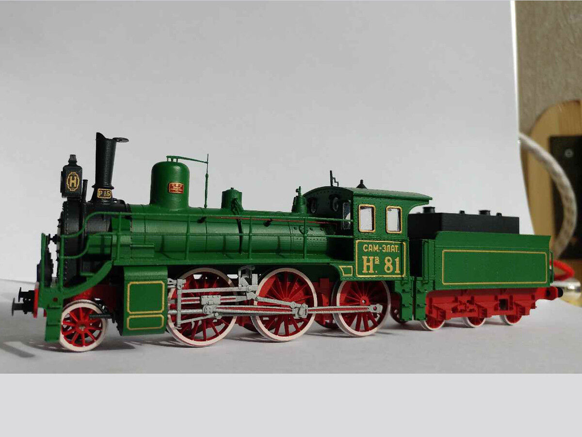 Kit for assembly model of Soviet Steam Locomotive NV HO scale