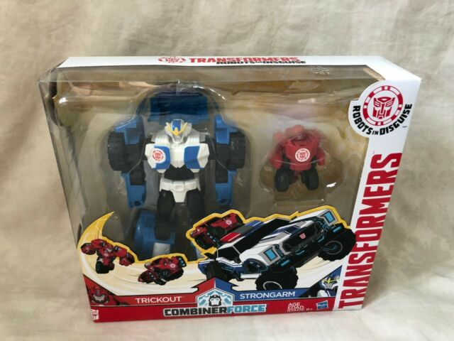 Transformers Robots In Disguise Combiner Force Trickout & Strongarm Brand New
