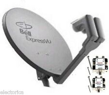 "NEW 20"" SATELLITE Dish 500 BELL Express Vu  2 LNB & 2 SW21 HD BEV SWITCH NETWORK"
