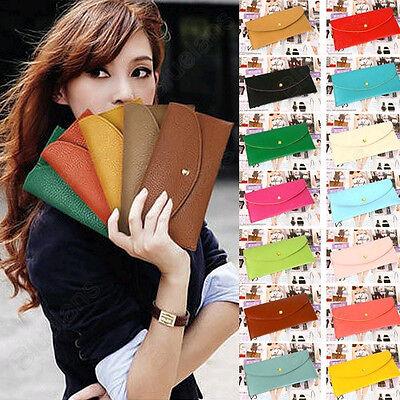 12 Colors New Fashion Wallet Korean Women Slim Card Package Clutch Handbag B8BU