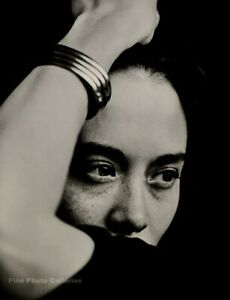 1988 Vintage TINA CHOW Fashion Model Icon By HERB RITTS Jewelry Photo Art 11x14