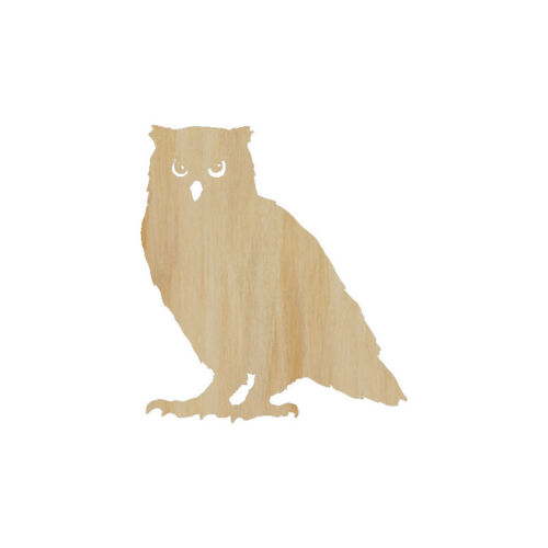 Wood Craft Standing Owl Bird Perched Owl Cut Out Wood Shape Craft Supply
