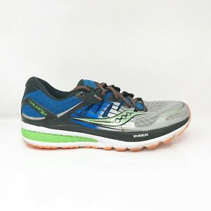 Saucony Mens Triumph ISO 2 S20290-1 Blue Silver Running Shoes Lace Up Size 11
