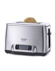 NEW-Sunbeam-TA6240-Maestro-2-Slice-Toaster-Grey