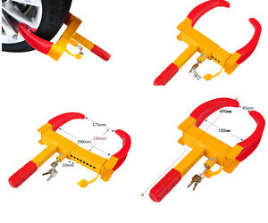 2X-Steel-Car-Wheel-Lock-Anti-theft-Safety-Clamp-Security-Vehicle-3Keys-Trailer