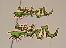 LOT OF 2 AUTHENTIC QUIKSILVER QUALITY SURF/SKATE STICKER Green Black