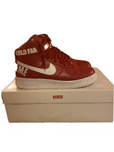 Nike Air Force 1 de Alto Supreme Rojo | eBay
