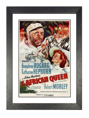 Bogart The African Queen #2 Adventure Film Advert Poster Hepburn Cinema Stars