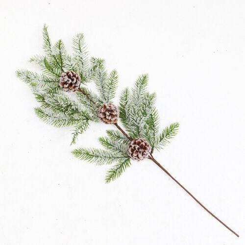 1PC Christmas Artificial Pine Cone Red Berry Branch es Xmas Tree Ornaments Decor