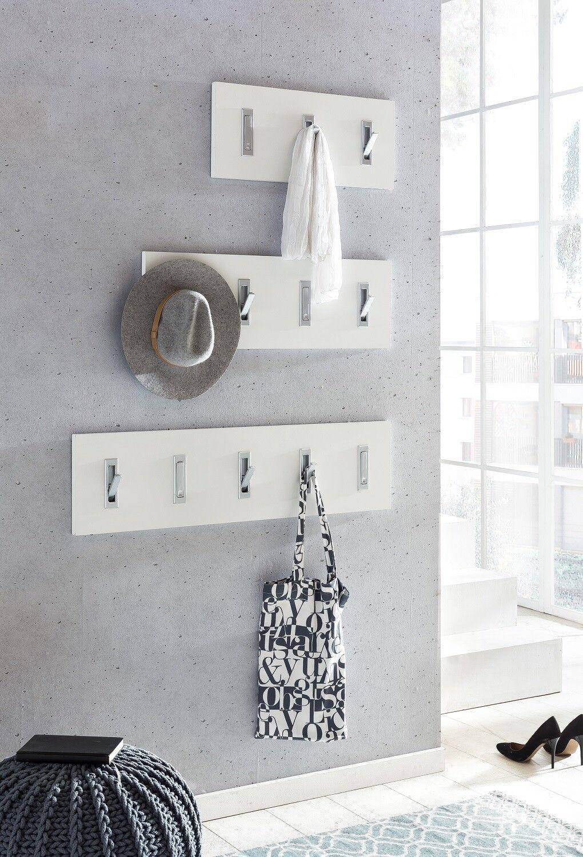 Wandgarderobe 3 Größen Weiß Sonoma Anthrazit Wandpaneel Klapphaken Garderobe | eine große Vielfalt