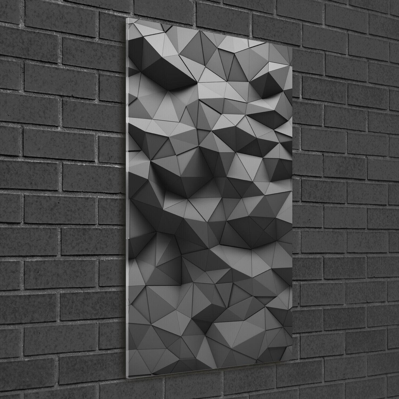 - Muro ARTE Immagine pressione rigida-VETRO verdeICALE 50x100 3d astratta-personaggi