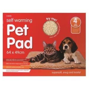 2 OR 1 SELF HEATING THERMAL PET  BED CAT DOG PUPPY WARM MAT Washable Bed Fleece