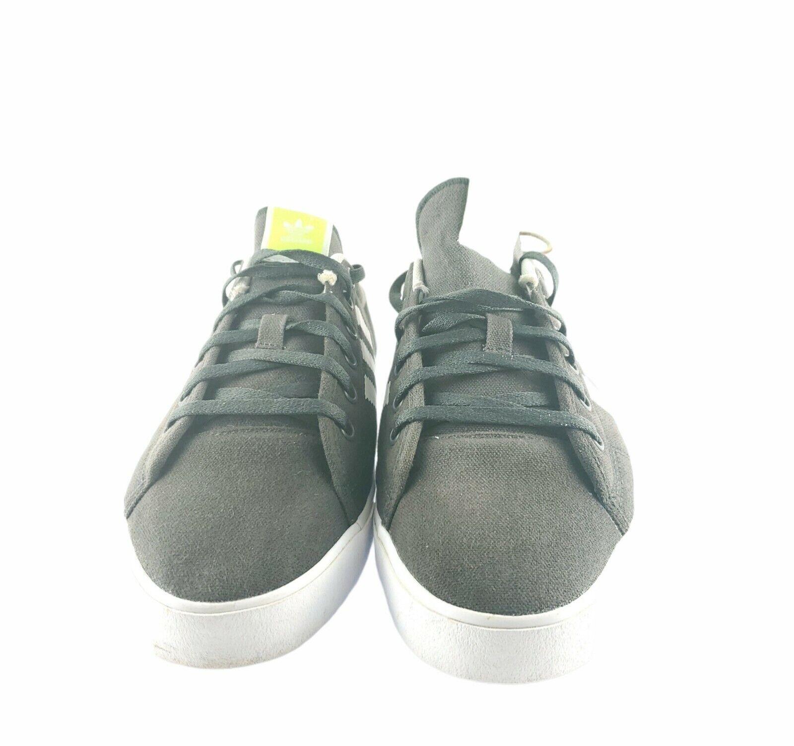 Adidas Adicourt Stripes Dark Gray Lime Stripes Size 8 1/2 Sporty USA Seller