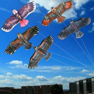 Hot-Huge-1-1m-Eagle-Kite-single-line-Novelty-animal-Kites-Children-039-s-Outdoo-J9Z7