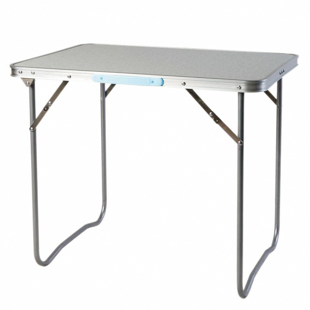 Lex Tavolo da Picnic,con Tracolla-Trasporto,Alluminio Struttura,80 x 60 x 66,5