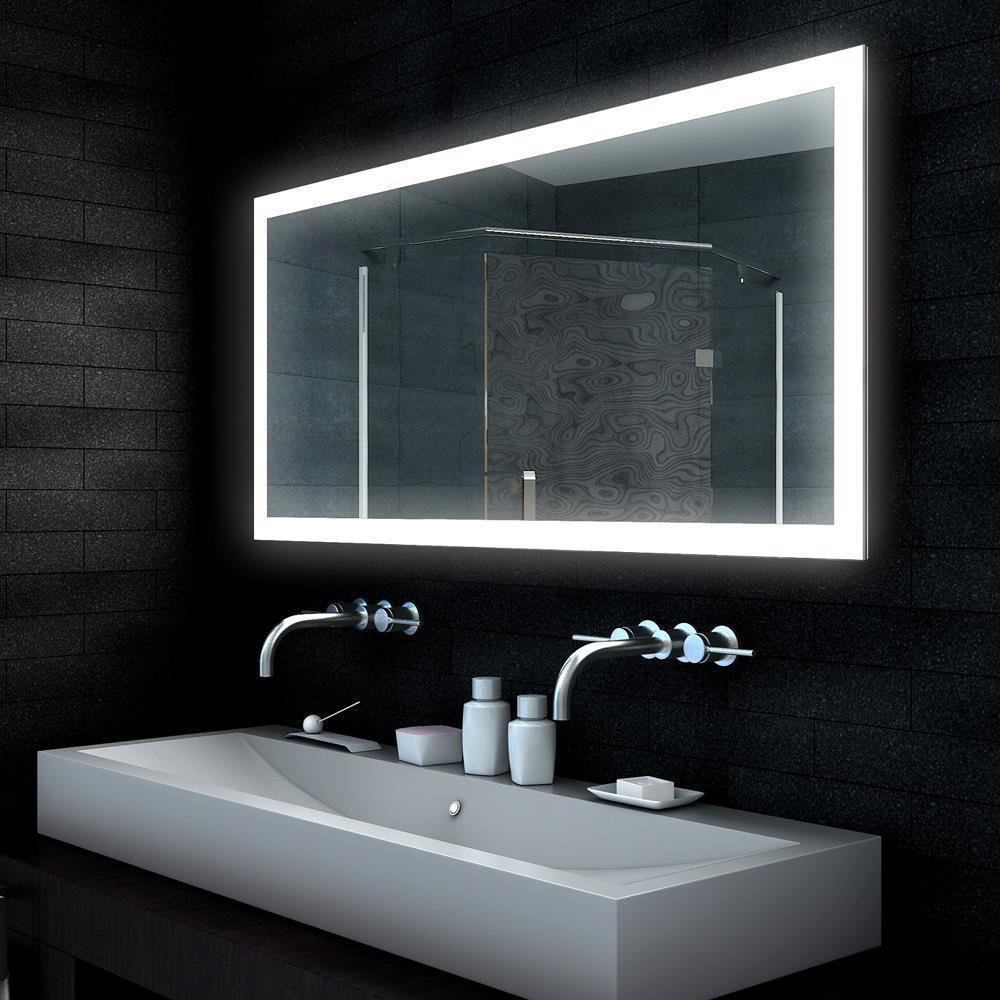LED beleuchtet beleuchtet beleuchtet Badezimmerspiegel Badspiegel Lichtspiegel Wandspiegel 140 cm MLD baccdb