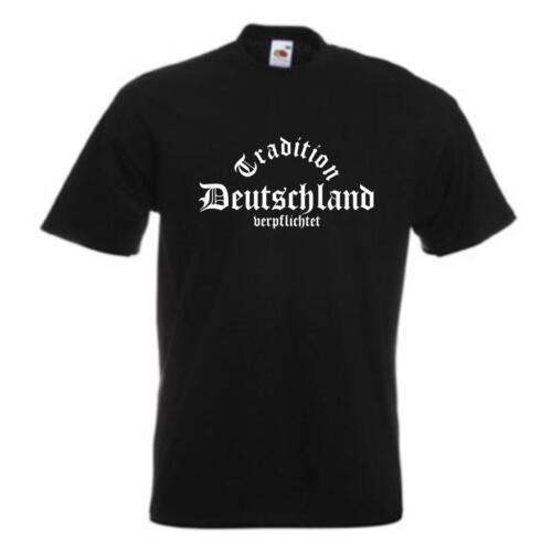 bedrucktes Fanshirt Tradition verpflichtet T-Shirt DEUTSCHLAND WMS01-03a