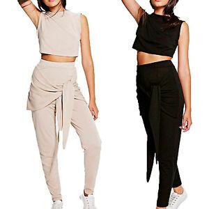 Detalles Top La Corto Set Cintura Sudadera Chándal Cómoda Ropa Mujer De Pantalones Atado A mnNOv08w