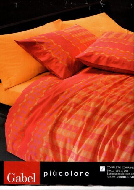 Copripiumino Matrimoniale Bandiera Inglese.Copripiumino Singolo Gabel Triplo 155x205 Made In Italy 100 Cotone Arancione