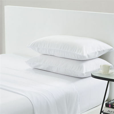 """1 pc Fitted Sheet with Extra Deep Pocket up to 30/"""" Egyptian Cotton 1000tc White"""