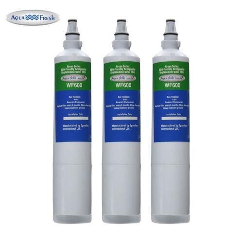 Aqua Fresh Replacement Water Filter 3 Pack Fits LG LSC27931ST Refrigerators