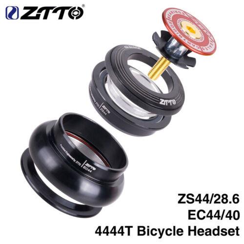 "ZTTO Bike Headset 4444T MTB 44mm CNC 1 1//8/""-1 1//2/"" Straight Tube Frame Headset"