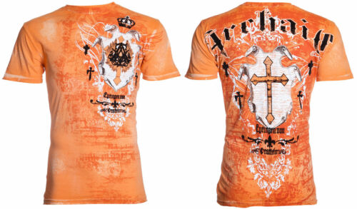 Archaic AFFLICTION Mens T-Shirt LANGTON Cross Tattoo Biker MMA UFC S-4XL $40
