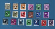 WKII Norwegen 1941 ,  Nr. 237-256 Y ,  komplett   **   !!