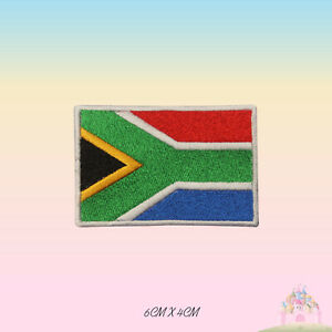 South-Africa-National-Flag-Embroidered-Iron-On-Patch-Sew-On-Badge