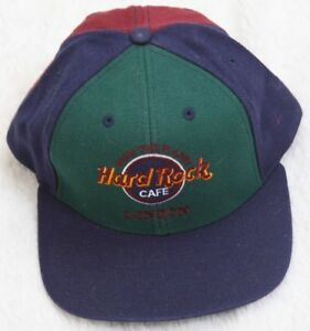 15076b08236 Hard Rock Cafe London Green Blue Hat Cap Adjustable Snapback ...