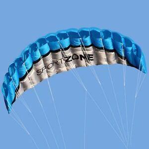 Sport-Zone-High-Quality-Kite-2-5m-Trainer-Kite-for-Kitesurfing-Blue-Freeship-amp-Trk