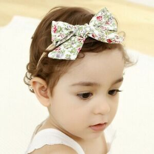 Spring-floral-print-bow-baby-seamless-hair-cotton-band-nylon-cute-children-r-o