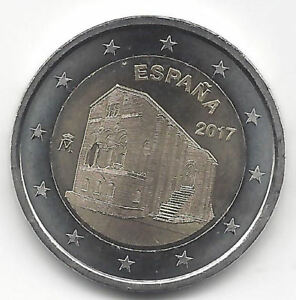 Espana-2-Euros-2017-Santa-Maria-Naranco-Emision-N-14-Conmemorativa