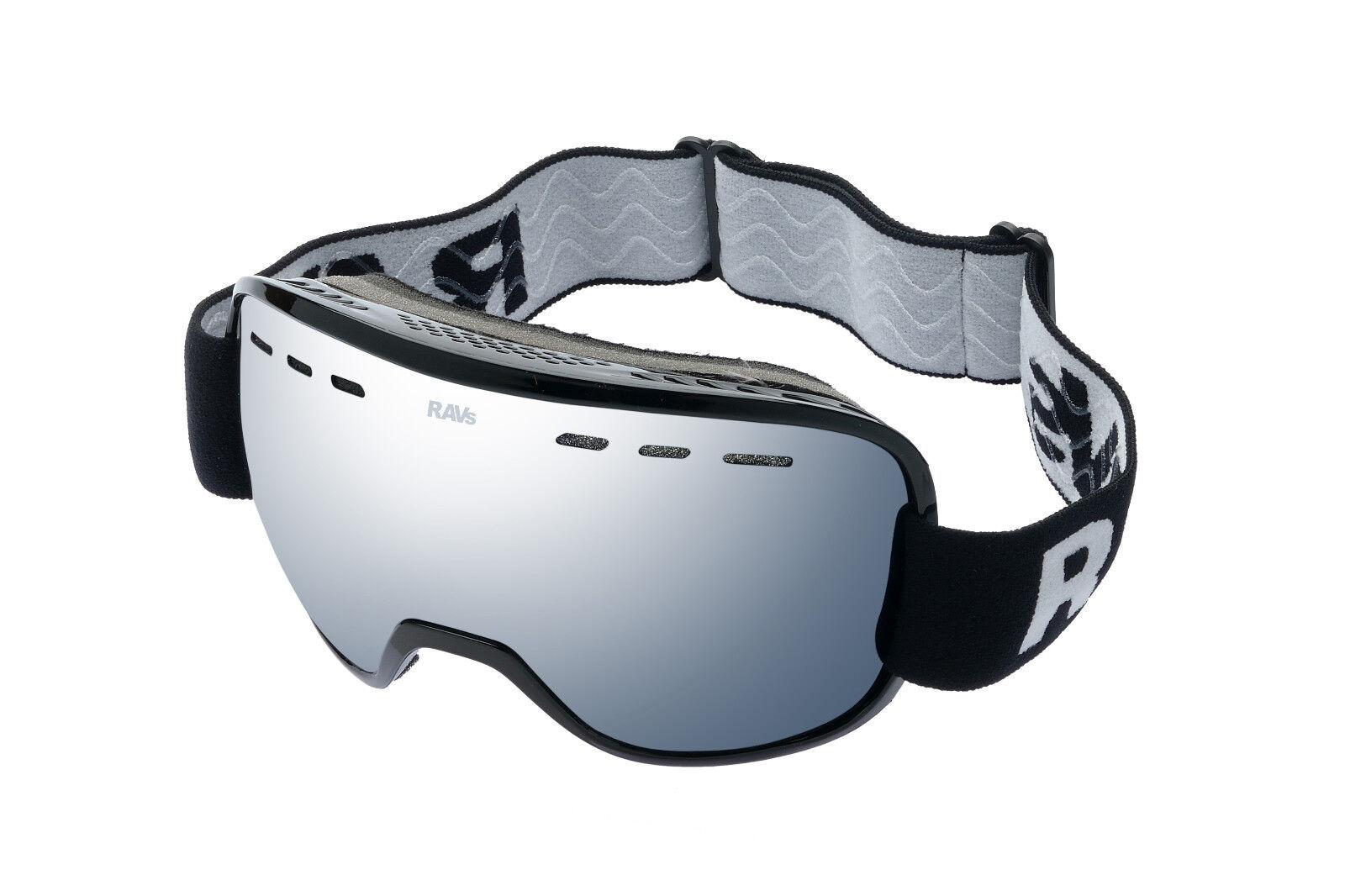 Ravs   Unisex Skibrille Snowboard Skiing goggles Silber Scheibe Antifog Skisport & Snowboarding