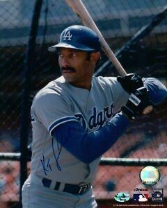 Ken-Kenny-Landreaux-Signed-8X10-Photo-Autograph-Dodgers-in-Cage-Center-Auto-COA