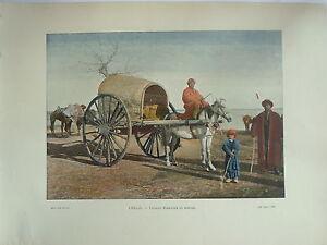 Caucase Types Et Paysages Photogravure Chariot Boukhare En Marche