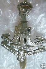 WW1 Yorkshire Regt (Princess of Wales's) Officer's Cap Badge(white metal,Genuine