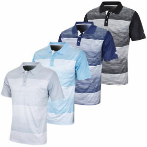 Island-Green-Mens-Mini-Stripe-Sweat-Wicking-Golf-Polo-Shirt-50-OFF-RRP