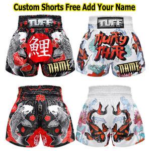 TUFF Personalize Muay Thai Boxing Kick Shorts 632 Custom Add Name S M L XL XXL