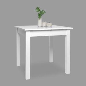 Esstisch Coburg Tisch Küchentisch Esszimmertisch Weiß Ausziehbar 80