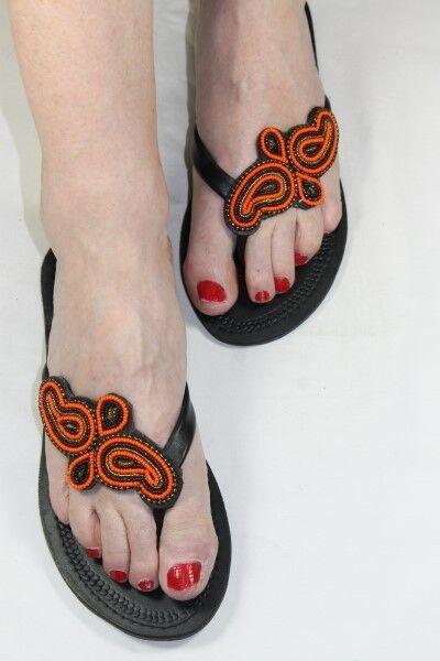 Sandali Donna pelle realizzata a mano in pelle Donna con perline Impreziosito FARFALLA SPEDIZIONE GRATUITA b48cb5