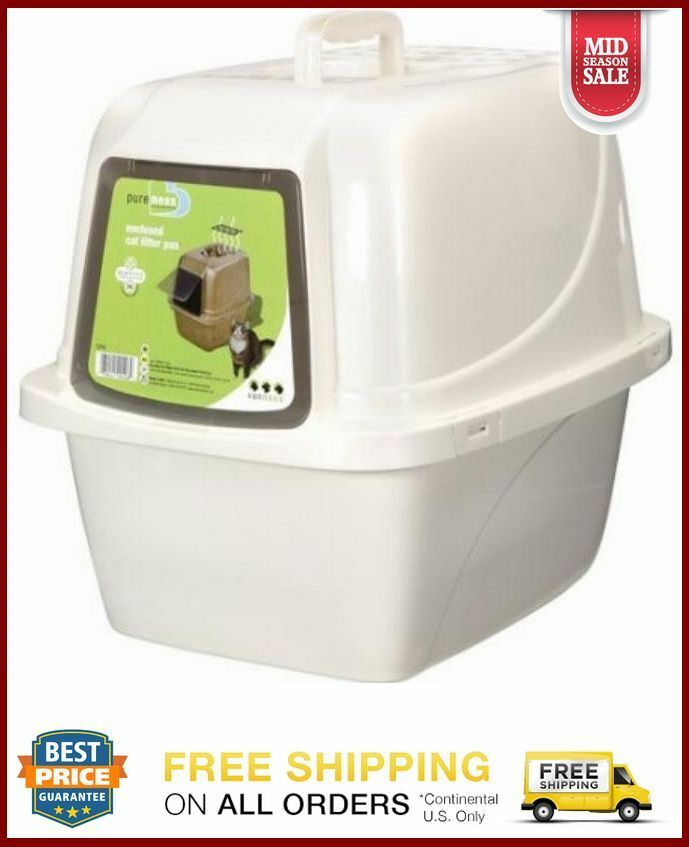 extra large cat litter box pan enclosed hooded jumbo giant. Black Bedroom Furniture Sets. Home Design Ideas