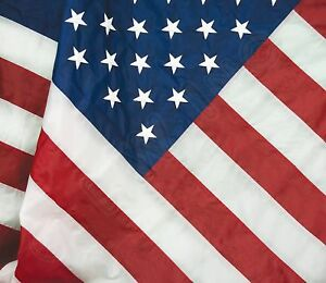 2-5-x-4-Embroidered-USA-American-Pole-Sleeve-Nylon-Flag-2-5-039-x4-039-Made-in-USA