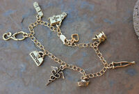 Medical Charm Bracelet - 14k Gold Filled Chain, 22k Plated Charms- Doctor, Nurse