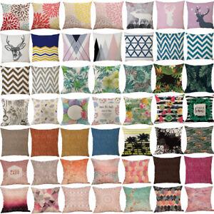 2018-Vintage-Linen-Cotton-Cushion-Cover-Waist-Throw-Pillow-Case-Home-Sofa-Decor