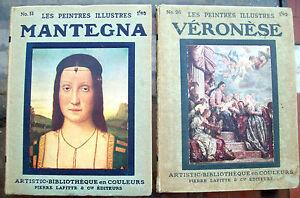 1920-MONOGRAFIE-IN-FRANCESE-SU-PITTORI-MANTEGNA-E-VERONESE-ILLUSTRATI