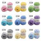 Smooth Hand Dyed Knitting Yarn Milk Fiber Cotton Crochet Craft