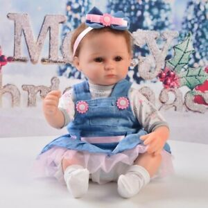 4pcs Adorable Doll Clothes for 16-17in Reborn Girl Baby Dolls Clothing Suit