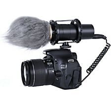 Movo VXR400 Pro Broadcast HD Condenser Stereo Microphone for DSLR Video Camera